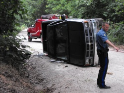 Crocker rollover victim escapes injury