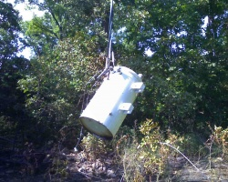 Treecutter knocks electric transformer into other trees on Tuesday afternoon