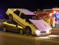 """Five-vehicle crash in St. Robert sends car """"up in the air like a balloon"""""""