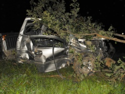 Weekend wrecks total two vehicles, one found after miles of hunting