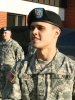 Pfc. Bryan Kaolowi named Soldier of the Quarter for National Guard unit