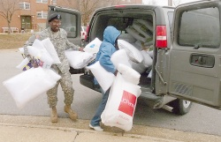 National Guard delivers 'mountain of pillows' from radio DJ to wounded vets