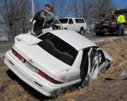 Crocker crash injures two Thursday