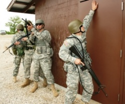 Missouri National Guard officer candidates train for urban battlefield