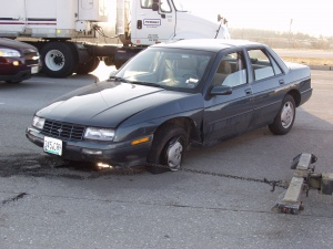 Missouri Avenue rush hour crash injures one
