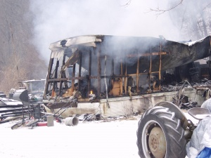 Four departments fight Monday house fire off Highway Y during icy weather