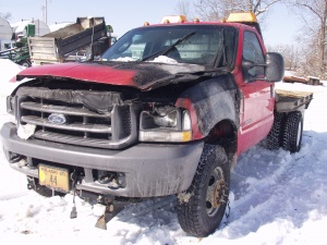 Fire wrecks county road truck while plowing snow Wednesday morning