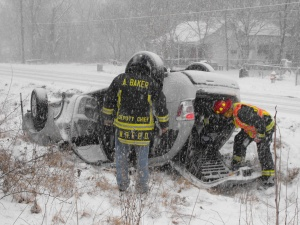 Emergency personnel warn drivers: Stay home, get off the roads