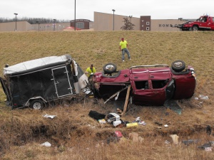 Rollover sends victim via helicopter to Springfield with serious injuries