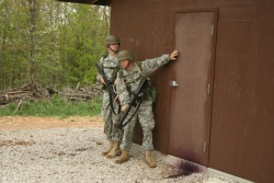 National Guard officer candidates work on urban battlefield tactics