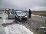 Monday slideoffs damage many cars, but injure few