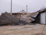 Weekend winds wreck county road shed