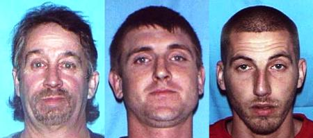 Sheriff hunting for three fugitives with heroin, meth, gun theft warrants
